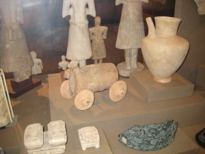 Temple Figures and Ancient Pull Toy