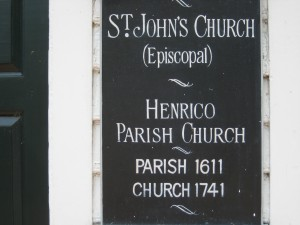 Plauque indicating the date of the church